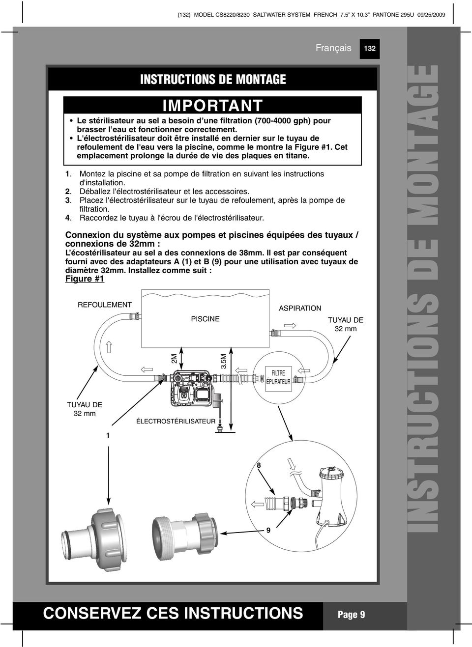 electrolyseur intex code 91