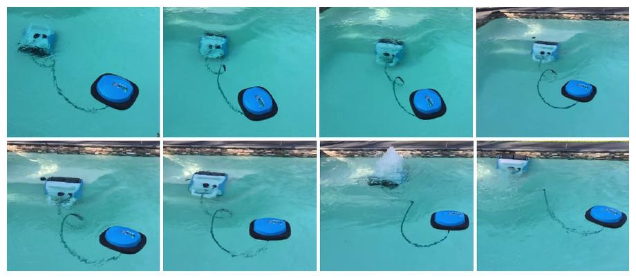 robot piscine a pile