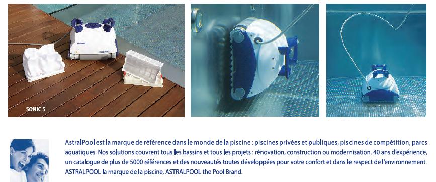 robot piscine astral sonic 5