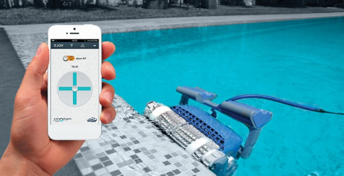 robot piscine connecte