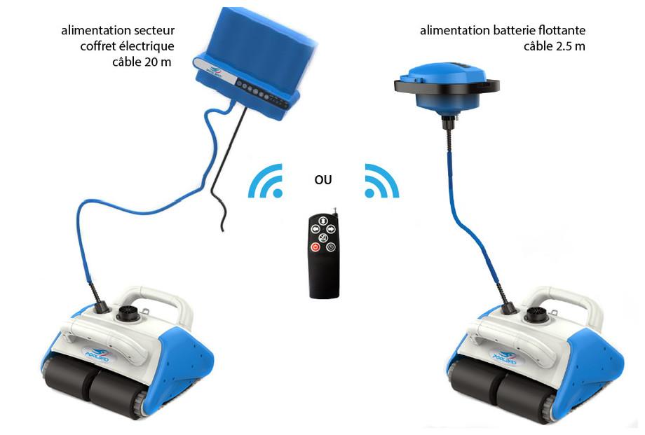 robot piscine electrique sans fil