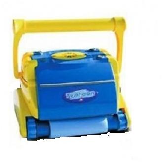 robot piscine jaune et bleu