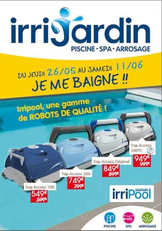 robot piscine promotion