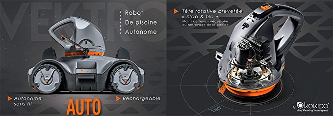 robot piscine vektro auto
