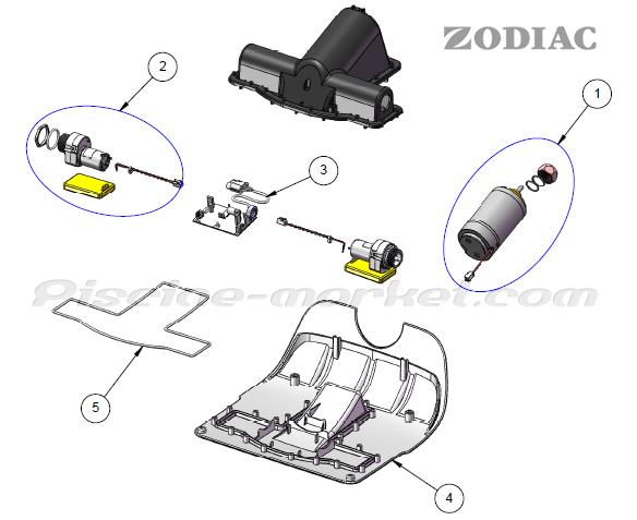 robot piscine zodiac vortex 4 pieces detachees
